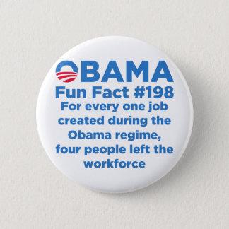 Obama Fun Facts 2 Inch Round Button