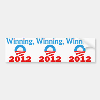 Obama gagnant, 2012 autocollant de voiture