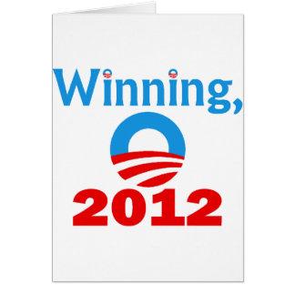 Obama gagnant, 2012 carte de vœux