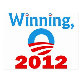 Obama gagnant, 2012 cartes postales