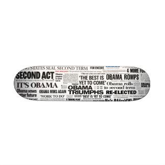 Obama gagne la planche à roulettes de 2012 titres planche à roulette