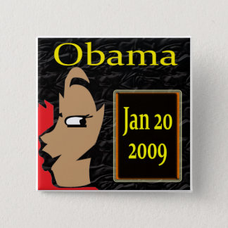 Obama Girl, Inauguration T-Shirts and Gifts! 2 Inch Square Button