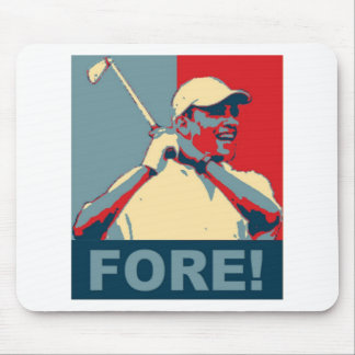 Obama Golfing FORE! Mouse Pad