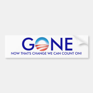 Obama, GONE! Bumper Sticker
