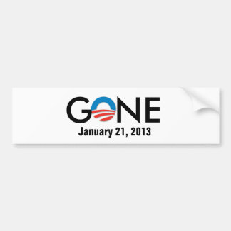 obama, GONE, January 21, 2013 Bumper Sticker