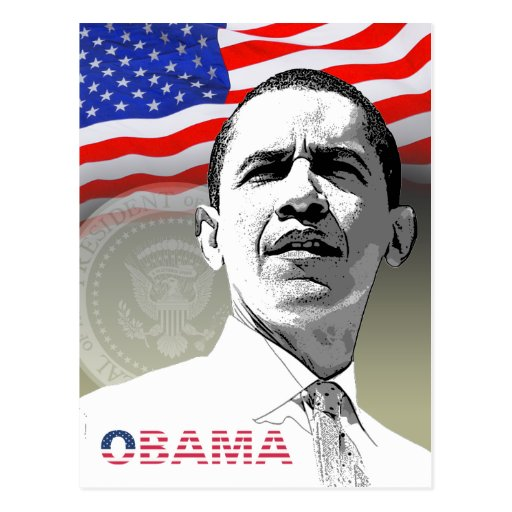 Obama - Greetings from... - Postcard - Template