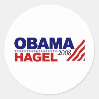 Obama Hagel 2008 Round Sticker