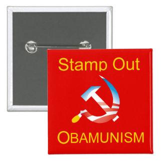 Obama Hammer and Sickle Communism Button