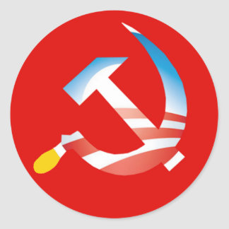 Obama Hammer and Sickle Sticker