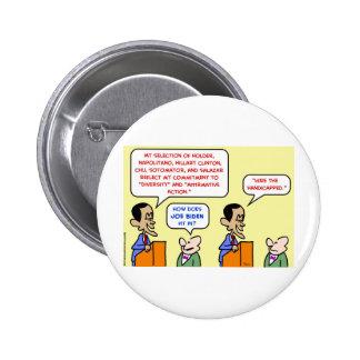obama hire handicapped biden pinback buttons