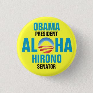 OBAMA/HIRONO 2012 1 INCH ROUND BUTTON