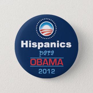 Obama HISPANICS 2 Inch Round Button