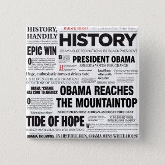 Obama Historic Headline Collage Button