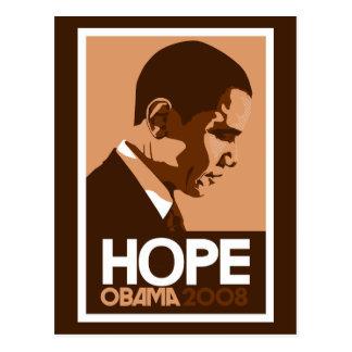 Obama - Hope Dark Brown Postcard