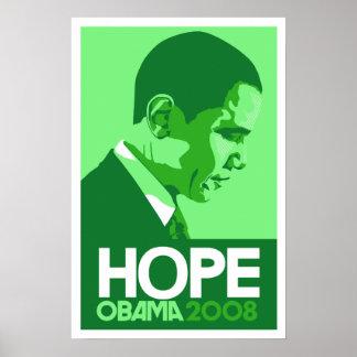 Obama - Hope Dark Green Poster