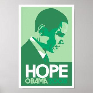 Obama - Hope Green Poster