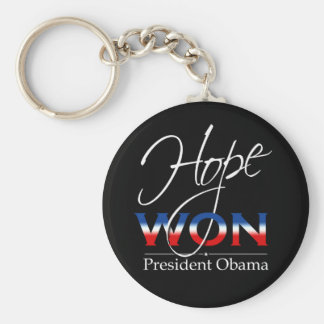 Obama HOPE WON - Keychain