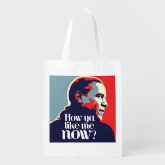 Obama: How Ya Like Me Now Reusable Grocery Bags