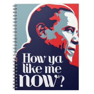 Obama: How Ya Like Me Now Spiral Notebooks