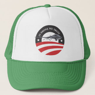 obama-In Drone We Trust- trucker hat