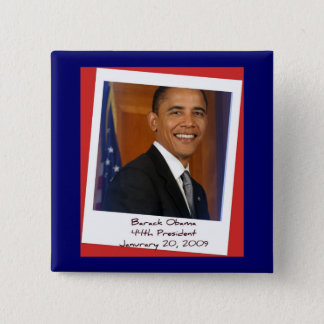 Obama Inauguration 2009 Memorabilia 2 Inch Square Button