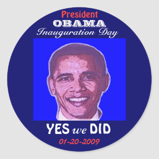OBAMA Inauguration Day Sticker