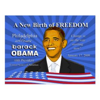 Obama Inauguration Events Philadelphia PA Postcard