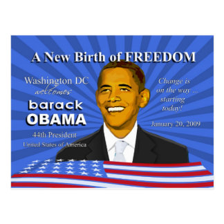 Obama Inauguration Events Washington DC Postcard