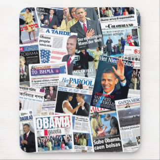 Obama Inauguration International Front Pages Mouse Pad