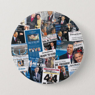 Obama Inauguration Newspaper Button