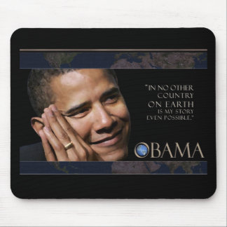 Obama Inspirational Quote Mouse Pad