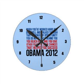 Obama Inspirational Round Clock