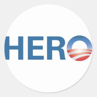 Obama is a HERO! Classic Round Sticker