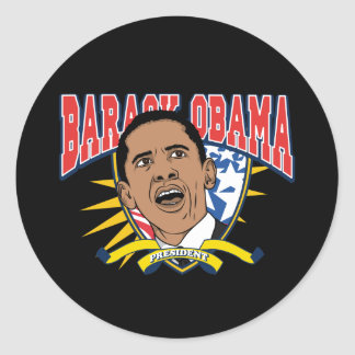 Obama Is President Round Stickers