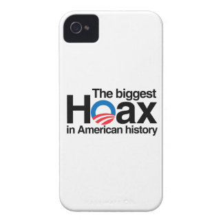 OBAMA IS THE BIGGEST HOAX IN HISTORY iPhone 4 Case-Mate CASES