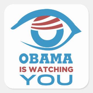 Obama is WATCHING YOU Obama Eye PRISM Square Sticker