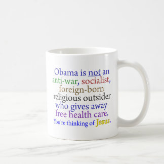 Obama & Jesus Coffee Mug