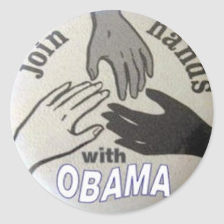 Obama Join Hands Stickers