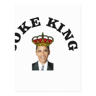 Obama Joke King Postcard