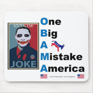 OBAMA jOKE Mouse Pad