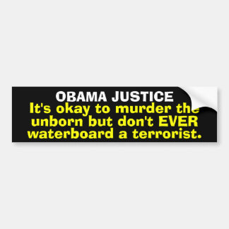 Obama Justice Bumper Sticker