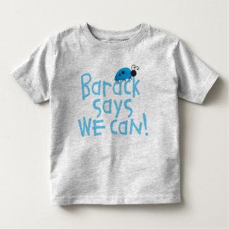 "Obama Kids - ""Barack Says We Can"" for Boys Toddler T-shirt"