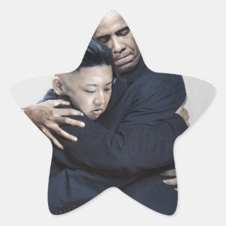 Obama Kim Jong Un North Korea Love Star Sticker