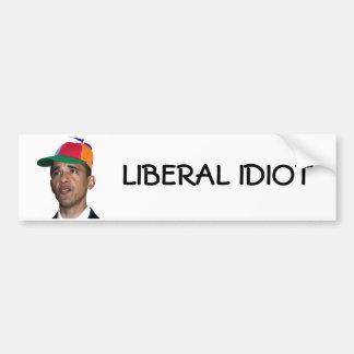 obama, LIBERAL IDIOT sticker