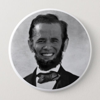 OBAMA LINCOLN 4 INCH ROUND BUTTON