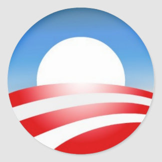 Obama Logo Classic Round Sticker
