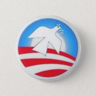 Obama Logo Peace Dove Button