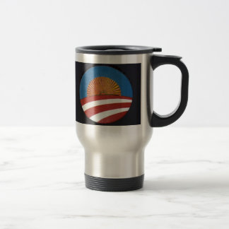 Obama Logo Sun Rise Travel Mug