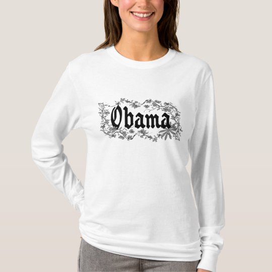 Obama Long Sleeve Womens Gothic Floral Shirt