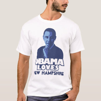 OBAMA LOVES New Hampshire T-Shirt